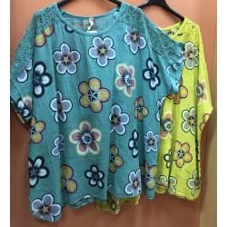 Макси блуза кенар К22