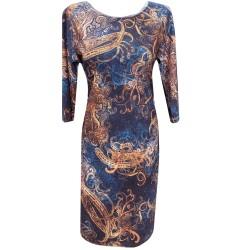 Стилна ежедневна  рокля -06