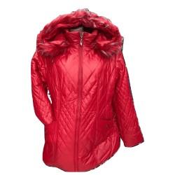 Зимно яке в червено