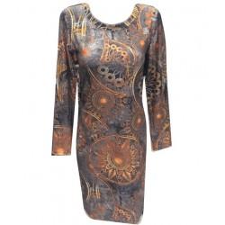 Стилна ежедневна  рокля -...