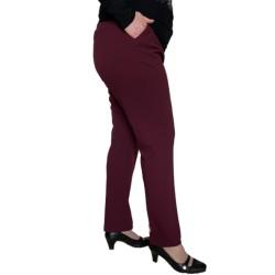 Eластичен панталон в бордо
