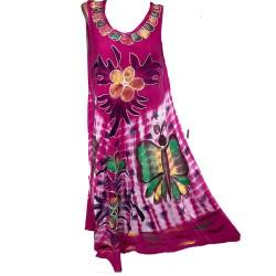 Цветна асиметрична рокля