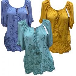 Памучна блуза с бродерия