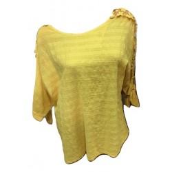Блуза памук с дантела на...