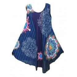 Цветна асиметрична рокля С12