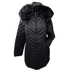 Дълго зимно яке в черно