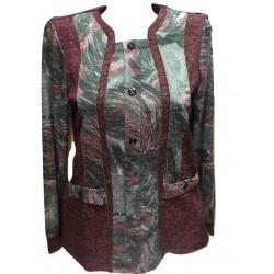 Блуза тип сако в бордо