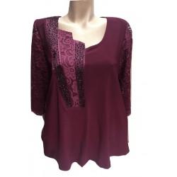 Стилна блуза с ефектно...