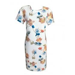 Стилна бяла права рокля Карина