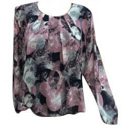 Ефирна макси блуза шифон  -...