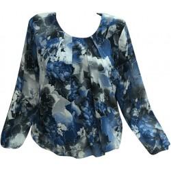 Макси блуза eдноцветна с гердан