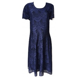 Разкроена рокля дантела