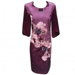 Eлегантна рокля - Цветна...