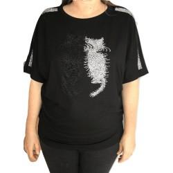 Блуза с котета -В102