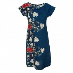 Разкроена рокля с цветя в...