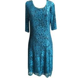 Разкроена рокля дантела -...